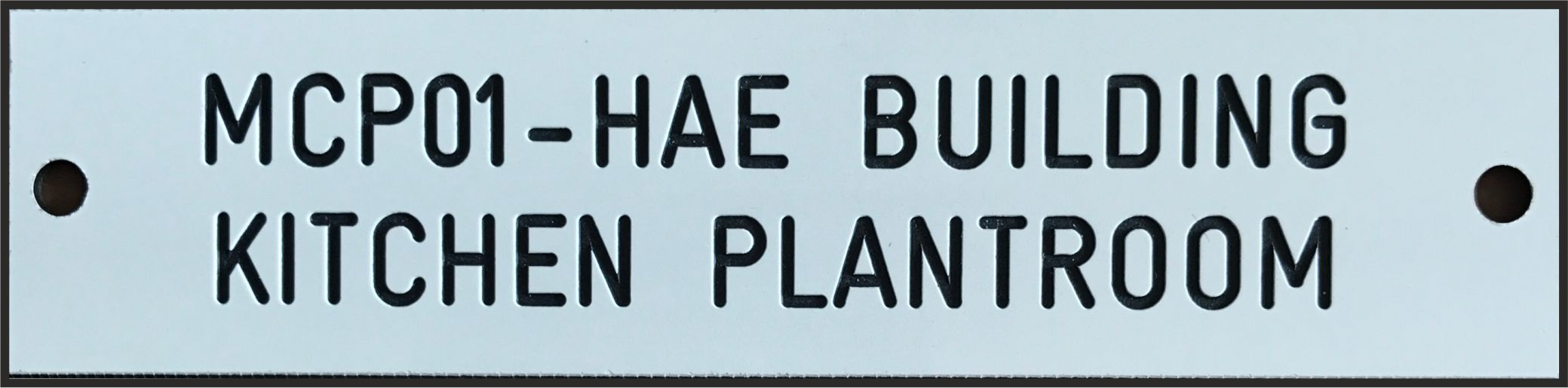 A Traffolyte Label with fixing holes.